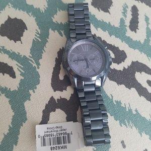 Nwt blue chronograph mk6248 watch